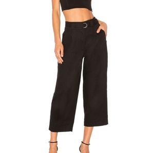 T by Alexander Wang Belted Crop High-Waisted Pant